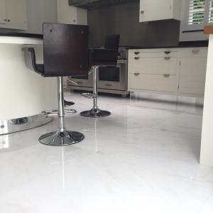 namibian white marble floor